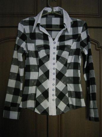 Школьная рубашка в клетку / школьная блуза