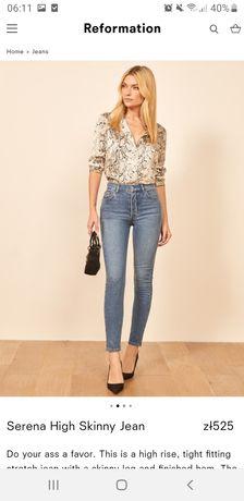 Spodnie jeansy Reformation MLE nowe! Kasia Tusk