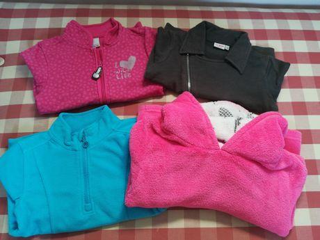 4 bluzy dla dziewczynki roz. 110 KappAhl, Coccodrillo, Lupilu, Primark
