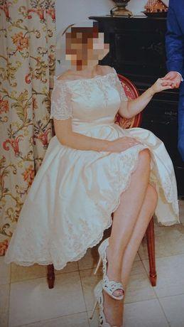 Okazja . Śliczna sukienka ślubna , koktajlowa .
