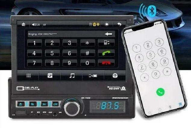 Магнитола Pioneer 7110CM с выдвижным экраном + AV-In + Bluetooth