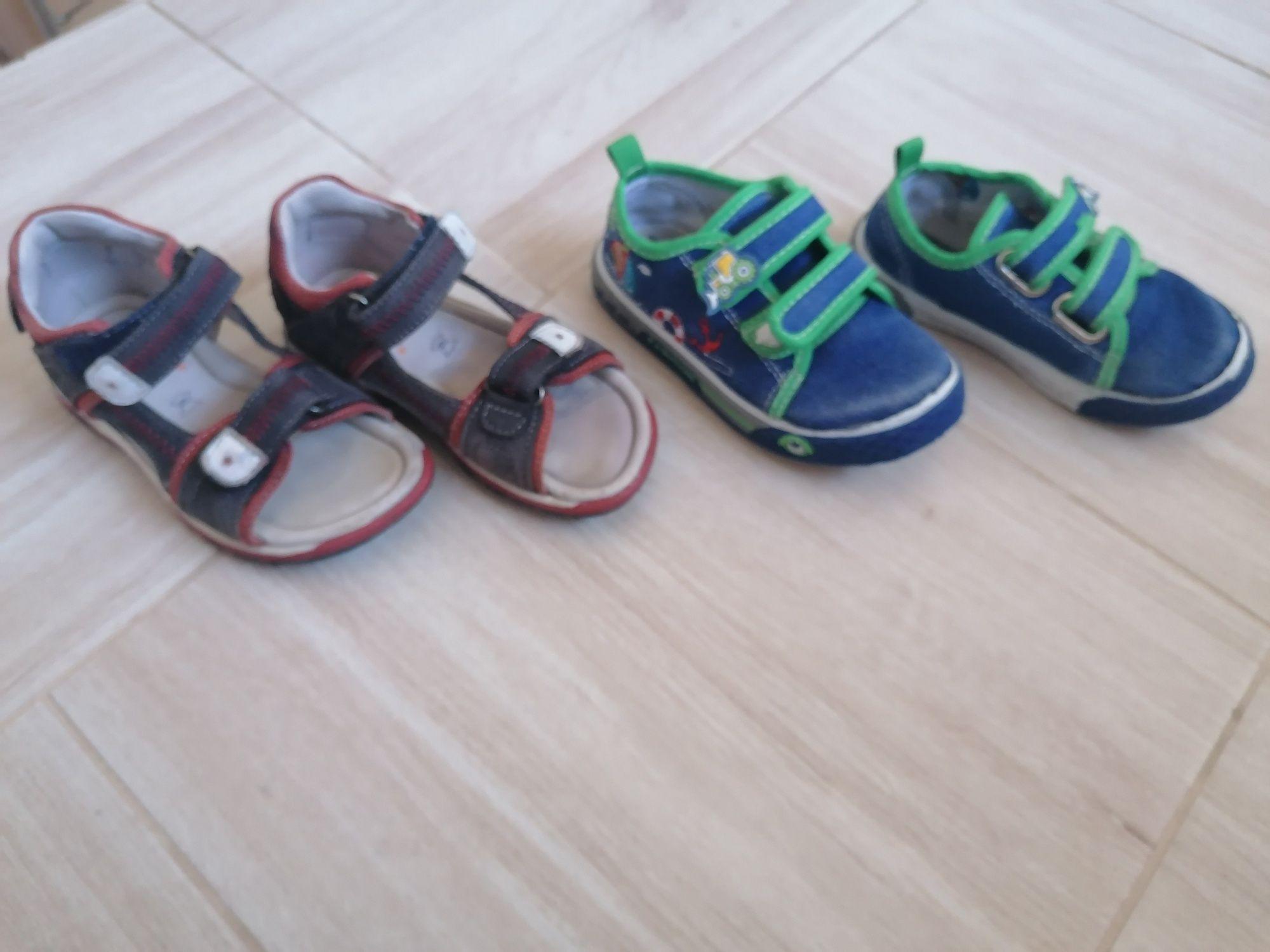Trampki i sandałki dla chłopca roz 24
