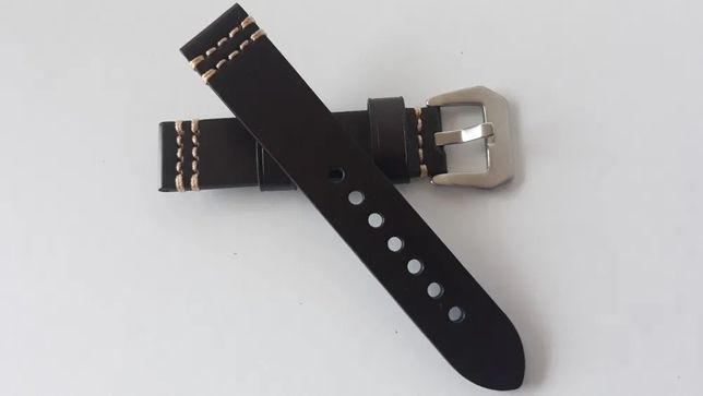 Bracelete pele Castanha 20mm