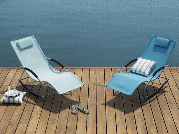 Cadeira de baloiço para jardim em azul turquesa CARANO - Beliani