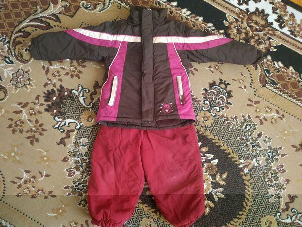 Костюм комплект зимний куртка и полукомбинезон