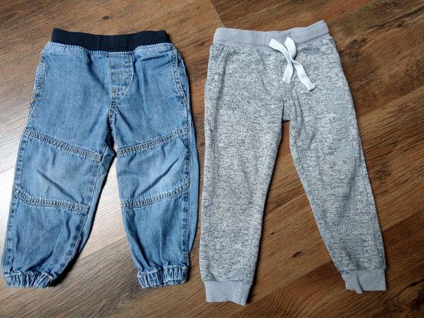 2 szt. spodnie jeansowe i dresowe rozm. 92