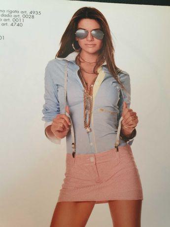 Koszula Denny Rose, rozm S/M, włoska, Capri, niebieska, biała