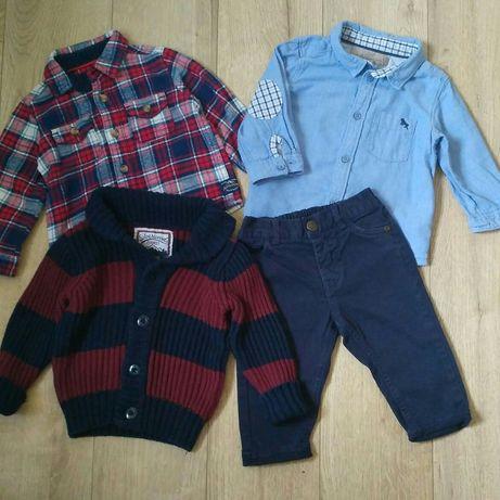Пакет одежды для мальчика на 6-9 мес рубашка брюки кофта M&S Next