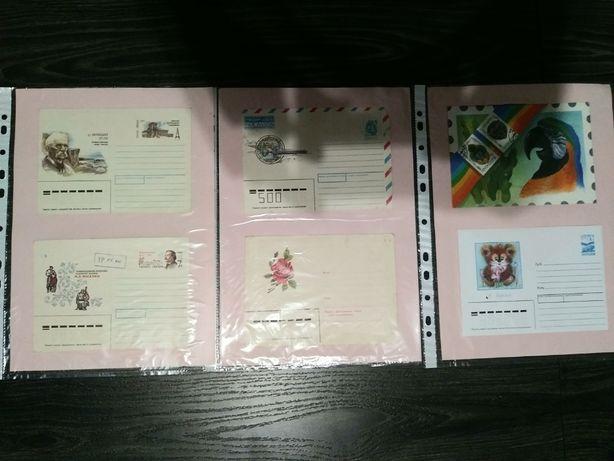 колекція конвертів 82шт Коллекция конвертов Поштові конверти України