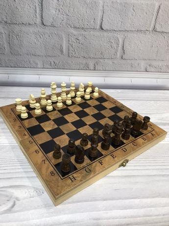 Деревянные Шахматы. Нарды 3в1 новые.