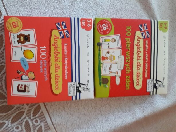 Sprzedam karty obrazkowe do nauki języka angielskiego z płytą CD