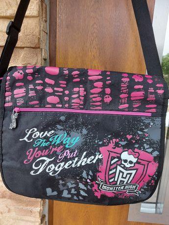 Torba na ramię Monster High czarna torebka