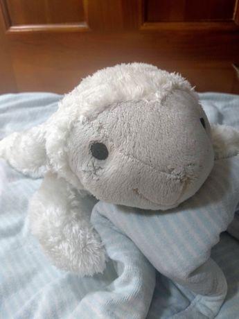 Przytulanka owieczka ZAZU Liz - biały szum - metkowiec minky GRATIS
