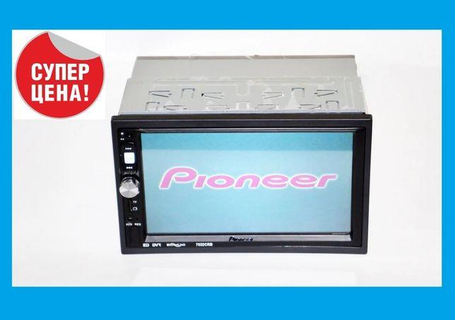"Автомагнитола Pioneer 2din 7022 USB+SD+Bluetooth- 7"" Экран сенсорный!"