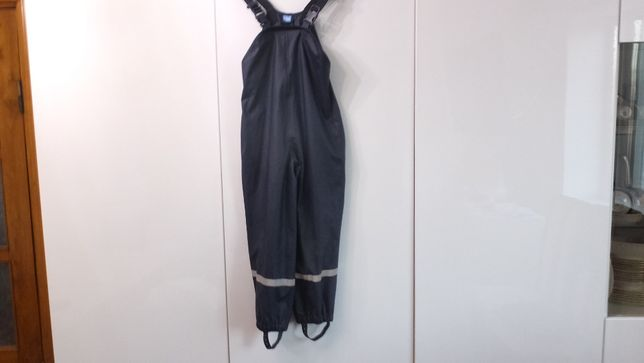 Кids р. 122 непромокаемый ветрозащитный полукомбинезон дождевик штаны