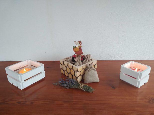 Skrzynka drewniana skrzyneczki ozdobne no kwiaty owoce słodycze donice