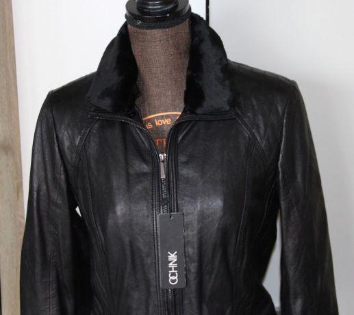 Skóra OWCZA OCHNIK skórzana czarna kurtka 34 xs 36 s ramoneska