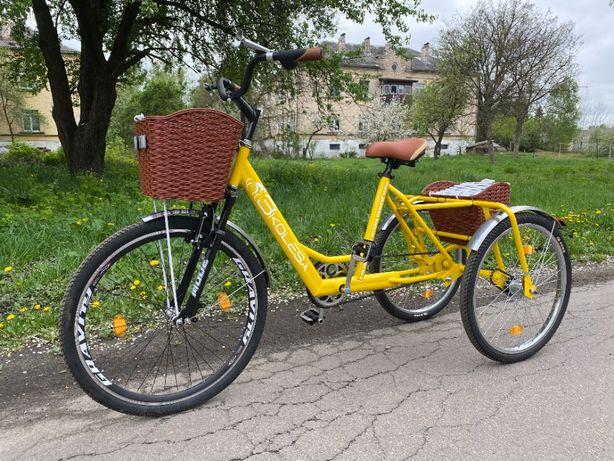 Трехколесный велосипед взрослый 3Колеса CITY, трицикл, грузовой