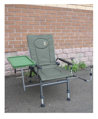 Кресло на рыбалку карповое с обвесом столиком Elektrostatyk F5R ST/P