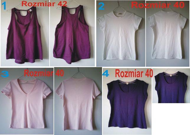 t shirt koszulka damska różowa fioletowa biała granatowa rozmiar L,XL