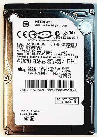 "Disco rígido HDD 2.5"" 500GB Hitachi Apple p/ MacBook"