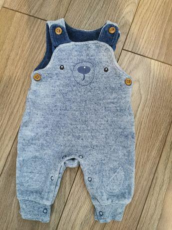 Śpioszki pajac miś niebieski niemowlęcy r. 56
