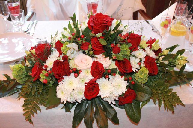 Florystka, bukiety ślubne, kompozycje, dekoracja sali, kościoła