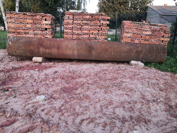 Rura stalowa przepust na mostek, drewna studnia
