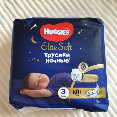 Huggies elite soft ночные трусики 3 размер