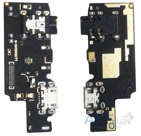 Шлейф Xiaomi Redmi Note 5 нижняя плата с разъемом зарядки, наушников