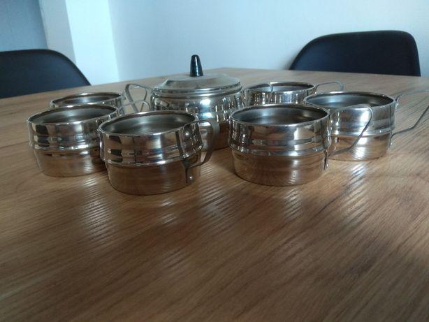 Koszyczki do szklanek 6 sztuk + cukiernica