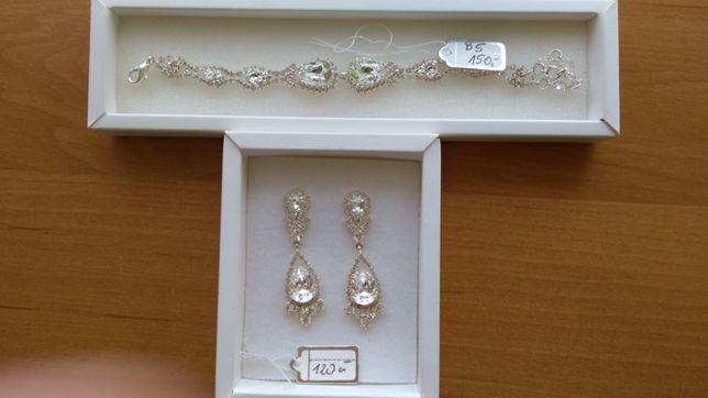 Piękny zestaw biżuterii ślubnej