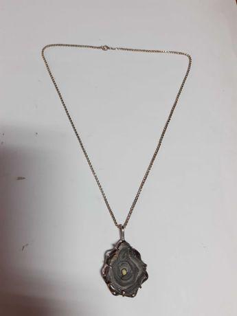 Niezwykły stary  naszyjnik srebro 835