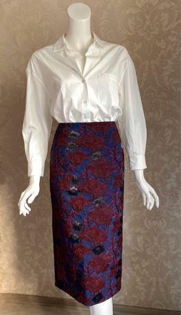 Alexander Terekhov дизайнерская нарядная юбка карандаш миди парча