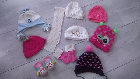 Czapki zimowe jesienne wiosenne szalik rękawiczki dla 2.5- 3.5 latki