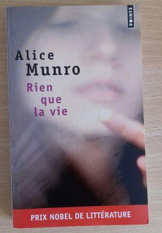 Książka Noblistki po FRancusku - Rien que la vie - Alice Munro