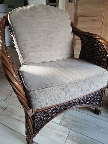 Dwa fotele - ratan i hiacynt wodny