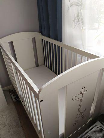 Łóżeczko dziecięce Klupś 120x60 + materac HEVEA