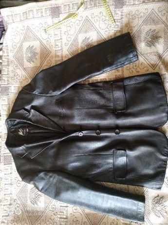 Мужская кожаная куртка-пиджак