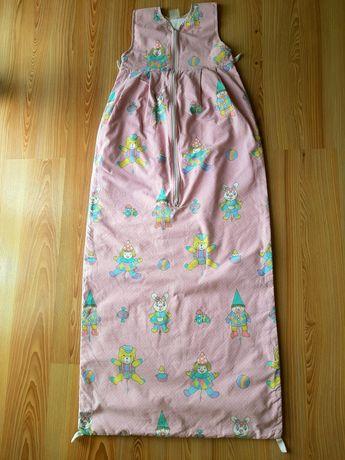 Śpiwór pajacyk dla dziecka pościel do przedszkola
