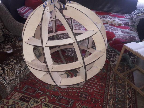 Круг шар 1метр декоративный декорация новый год