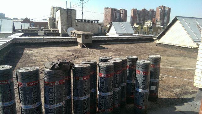 Ремонт крыши кровли гаража дома балкона козырька еврорубероид