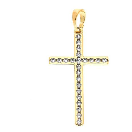 Zawieszka duży Krzyż złota stal chirurgiczna cudo :)