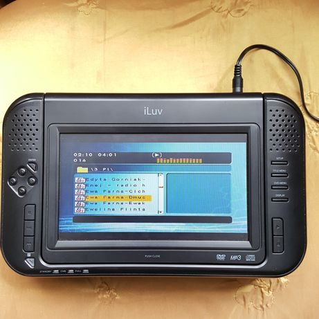 "Przenośne 7"" DVD iLuv i1055 iPod dock akumulator pilot"