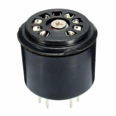 Acrescenta altura para válvulas 12AX7, ECC83 - Baquelite - 9 Pin.