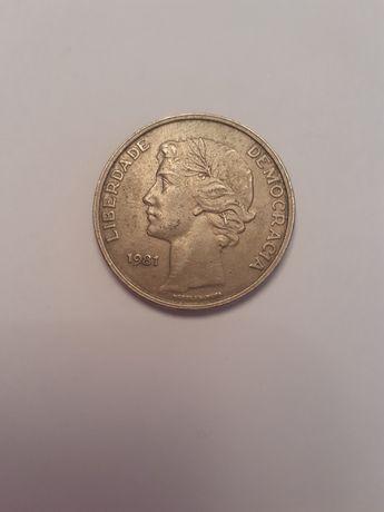 Moneta Portugal 25 Escudos 1981 rok