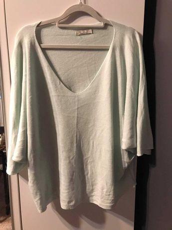 bluzka oversize miętowa