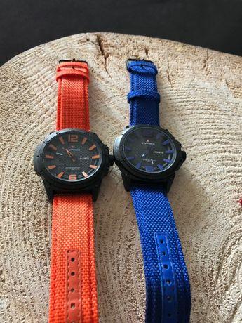 zegarki sportowe 2 sztuki, kolor: granat, pomarańczowy