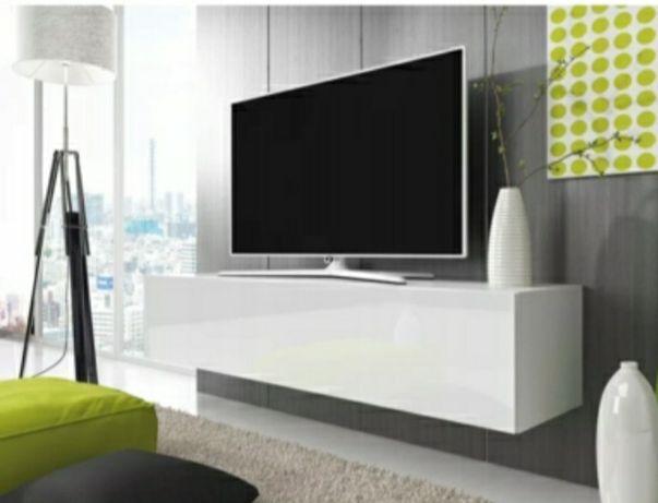 Wisząca szafka vivien pod telewizor RTV biala wysoki połysk 100 cm
