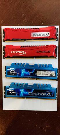 Memórias RAM GSKILL e HyperX DDR3 1600 4GB